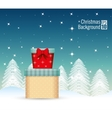 cute chritsmas background with gifts snow vector image
