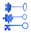 Key to puzzle concept vector image vector image