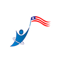 Happy patriotic man logo vector image