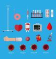 blood donation day set human donates blood vector image