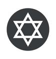Round Star of David icon vector image