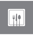 white square plate vector image vector image