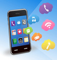 smart phone and applications vector image vector image