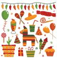 Mexican party objects vector image