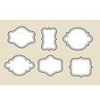 decorative blank frame vector image vector image
