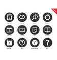 Help icons on white background vector image