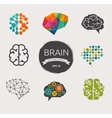 Collection of brain creation idea icons and vector image