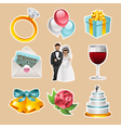 Colorful Wedding Icons vector image