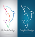 Dolphin Design vector image