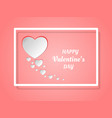 happy valentines day concept of love paper art vector image