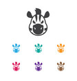of zoo symbol on zebra icon vector image