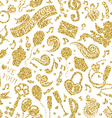 seamless gold romantic pattern vector image