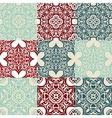 set of Seamless vintage ornametal pattern vector image