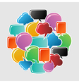 Social bubbles speech vector image