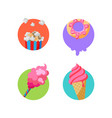 street food stickers badges for pack decoration vector image