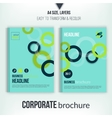 Brochure cover with overlapping circles vector image