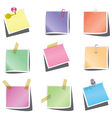 paper notes vector image vector image