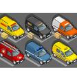Set of vans vector image