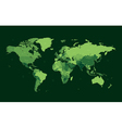 Dark green detailed World map vector image