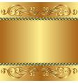 golden backgroun vector image vector image