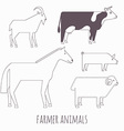 Farmer flat animals vector image