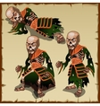 Asian zombies in different physical postures vector image