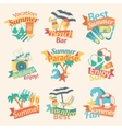 Beach Labels Flat Set vector image