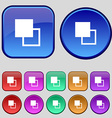 Active color toolbar icon sign A set of twelve vector image