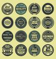 best choice good quality vintage labels set vector image