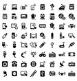Big electronic devices icons set vector image