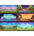 Cartoon game design nature landscape set vector image