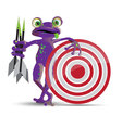 Darts playing frog vector image