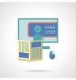 Online tutoring flat icon vector image