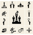 Set of business and career icons vector image