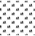 Vietnamese junk boat pattern simple style vector image
