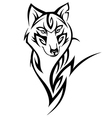 Wolf tattoo vector image vector image