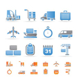 logistics and transportation icons vector image vector image
