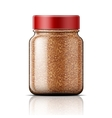 Glass jar with instant coffee vector image