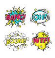 comic speech bubbles set with different emotions vector image