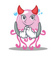 devil cute jellyfish character cartoon vector image