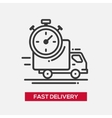 Fast delivery service single icon vector image