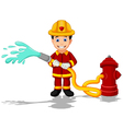 firefighters cartoon vector image