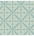 Retro blue vintage floral seamless pattern vector image