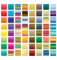 set of colorful button vector image