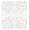 Vintage ornamental lace with floral card vector image