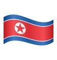 Flag of North Korea waving on white background vector image