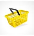 shopping basket yellow on white vector image