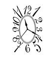 Retro clock dial vector image vector image
