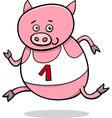 running piglet cartoon vector image