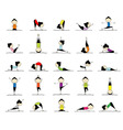 Yoga practices Vector Image